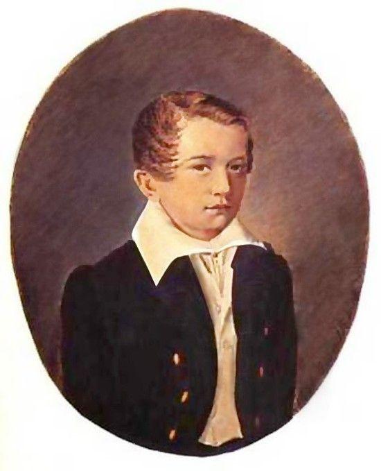 Детские портреты русских писателей Иван Тургенев