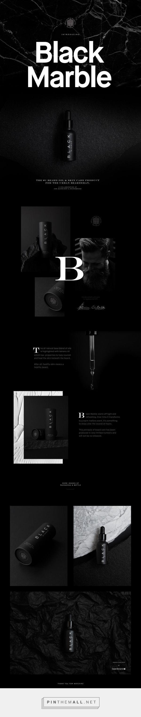 Black Marble Beard Oil Branding and Packaging by Tobias Van Schneider | Fivestar Branding Agency – Design and Branding Agency & Curated Inspiration Gallery