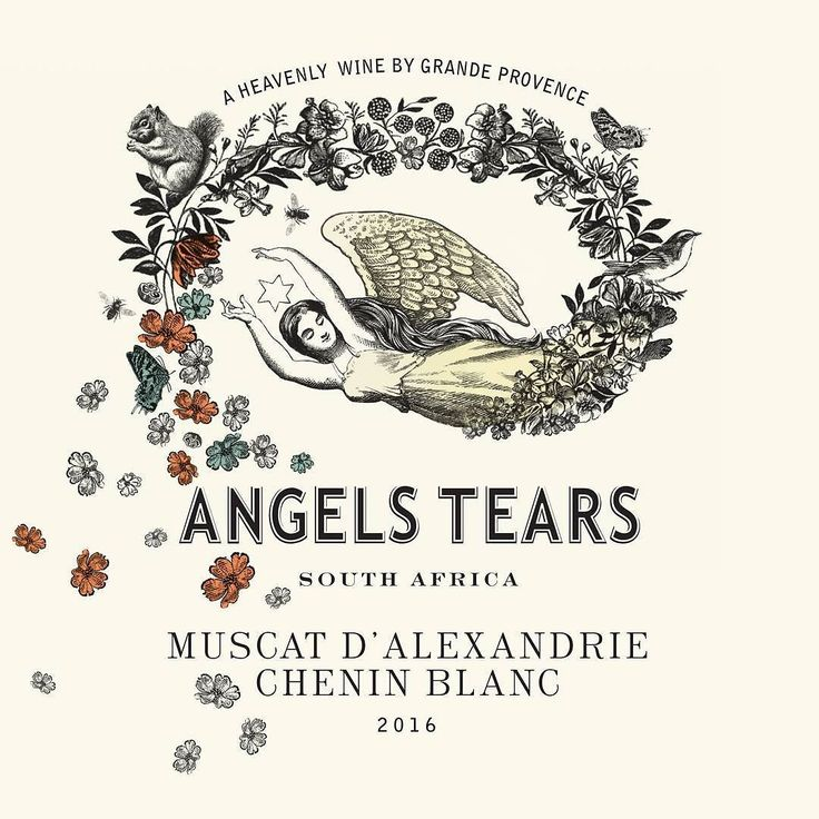 Angels Tears Wines done for @grandprovence. Inspired by Marc Chagall.  ____________  #haumannsmal #inspire #inspiration #marcchagall #labeldesign #angelstearswine #angel #tears #grandeprovence #winelabeldesign #heavenly #wine #flowers #squirrel #franschhoek #muscat #cheninblanc