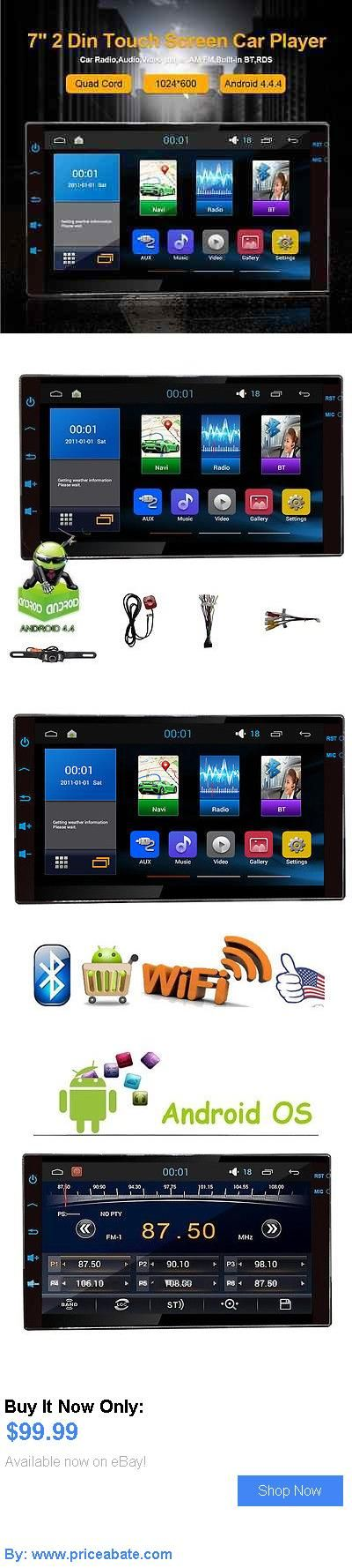 Vehicle Electronics And GPS: 7Android4.4 Quad Cord Double 2Din Hd Car Stereo Gps Navi Player Bluetooth Radio BUY IT NOW ONLY: $99.99 #priceabateVehicleElectronicsAndGPS OR #priceabate