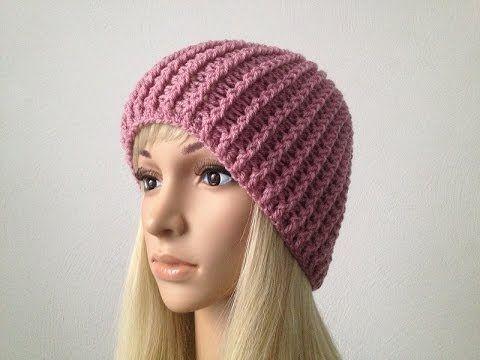 Crochet Rib Stitch hat