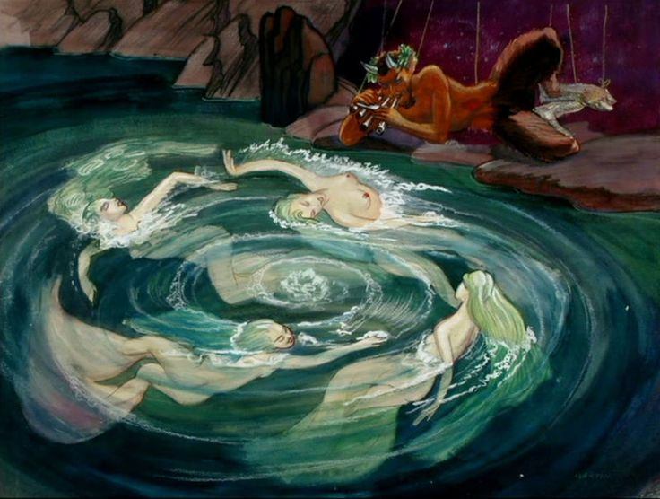 Concept art from the Disney movie, 'Fantasia' in my personal favorite piece, Pastoral Symphony (or Symphony No. 6) Absolutely breathtaking