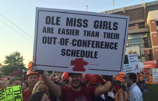 Best College GameDay Signs Week 3 Alabama Vs Ole Miss