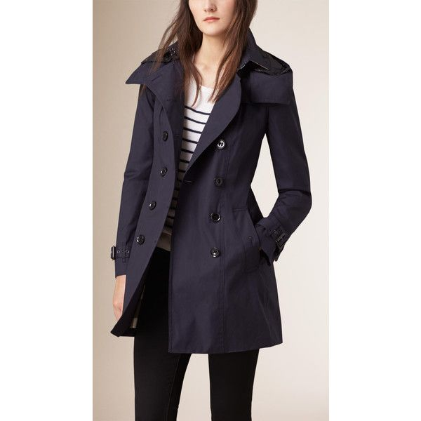 Burberry Hooded Trench Coat with Warmer (276.955 HUF) ❤ liked on Polyvore