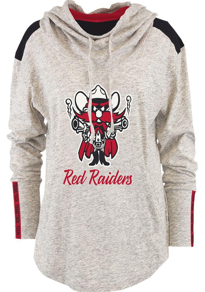 33b4e420 Texas Tech Red Raiders Womens Oatmeal Gibson Hooded Sweatshirt ...
