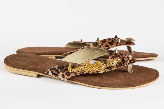 Jeweled leather sandal Wild Thing