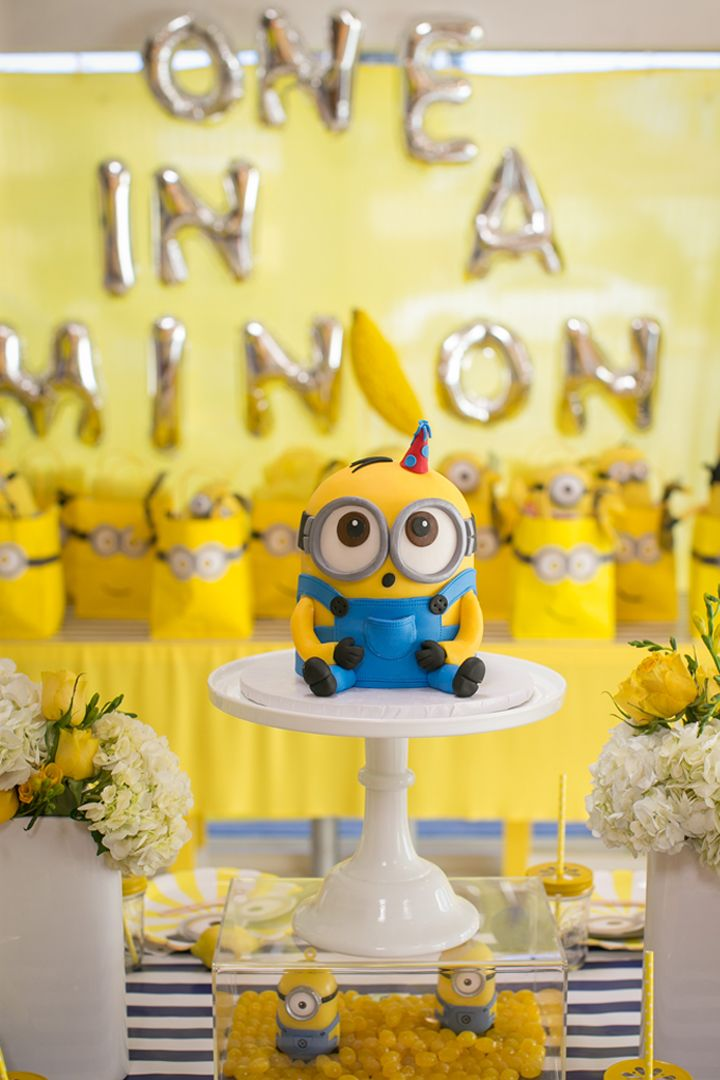 This One In A Minion Birthday Party Will Have Your Kiddo