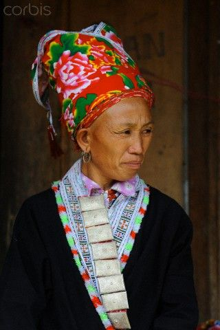 Vietnam | Woman from the Red Dzao minority.  Muong Hum market, North West Sapa district, Lao Cai province | © Bertrand Rieger/Hemis/Corbis