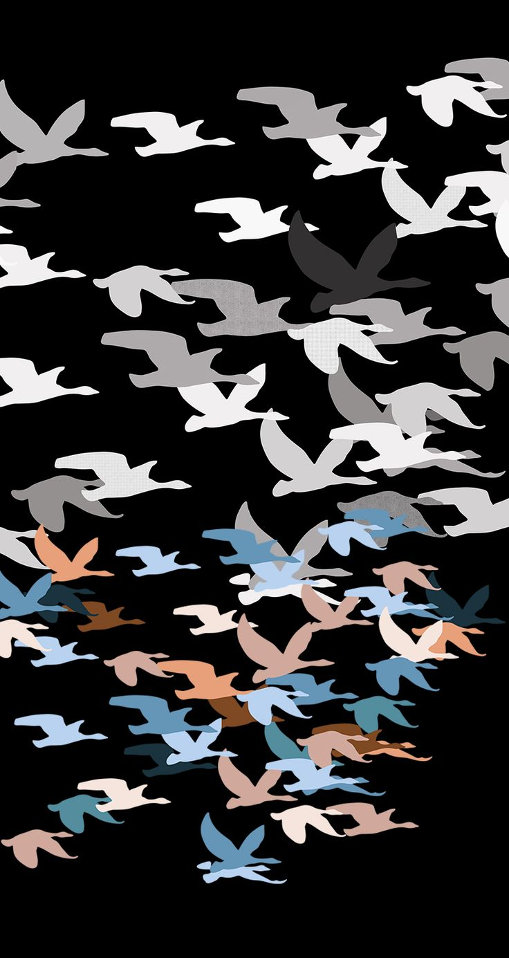 @oozefina Free as a bird ● Chained to the sky #fly #travel #illustration #pattern #adventure #print #birds #birdies