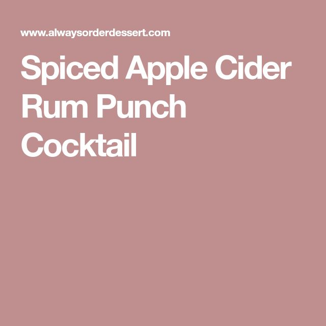 Spiced Apple Cider Rum Punch Cocktail