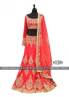 Bollywood Replica - Bridal Red Banglori Silk Lehenga Choli - KT-2013