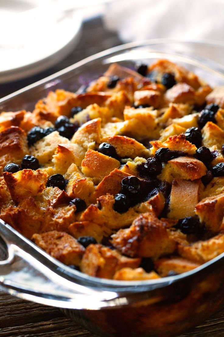 Overnight Blueberry French Toast Casserole by Deliciously Yum!