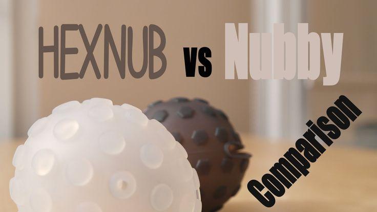 HEXNUB vs Nubby Cover - The Comparison!!  For the Sphero 2.0 robotic ball  www.hexnub.com