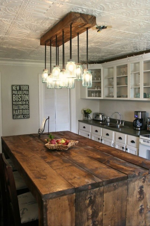 Barn Wood Kitchen Island
