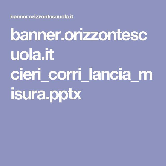 banner.orizzontescuola.it cieri_corri_lancia_misura.pptx