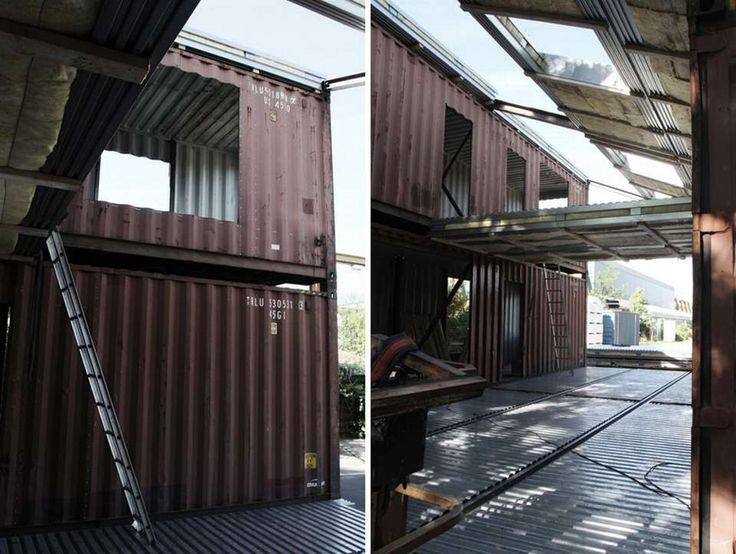 RASK MONTERING: Det er mye raskere å sette sammen et hus av containere enn det er å bygge et fra grunnen av, tydeligvis.