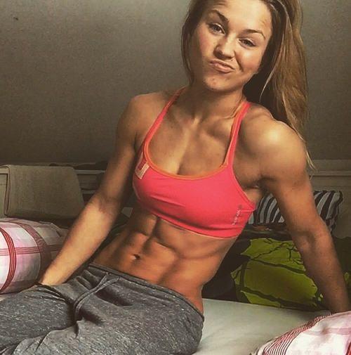 female abs skinny hairy