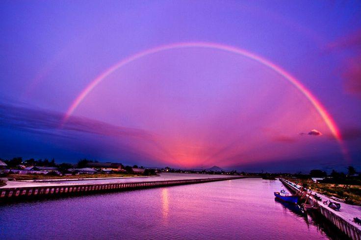 Rainbow over the Banda Aceh city
