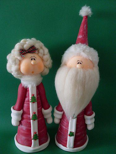Mamá y Papá Noel 30 cms