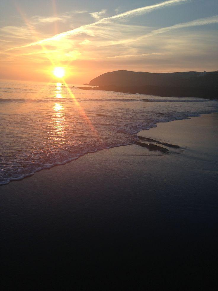 Sunset at Croyde Bay