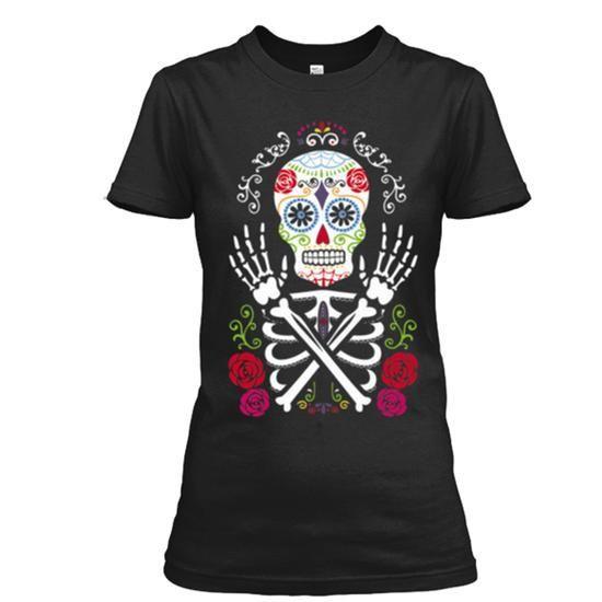 Sugar Skull T Shirts, Hoodies. Check price ==► https://www.sunfrog.com/LifeStyle/Sugar-Skull-Shirt-Ladies.html?41382
