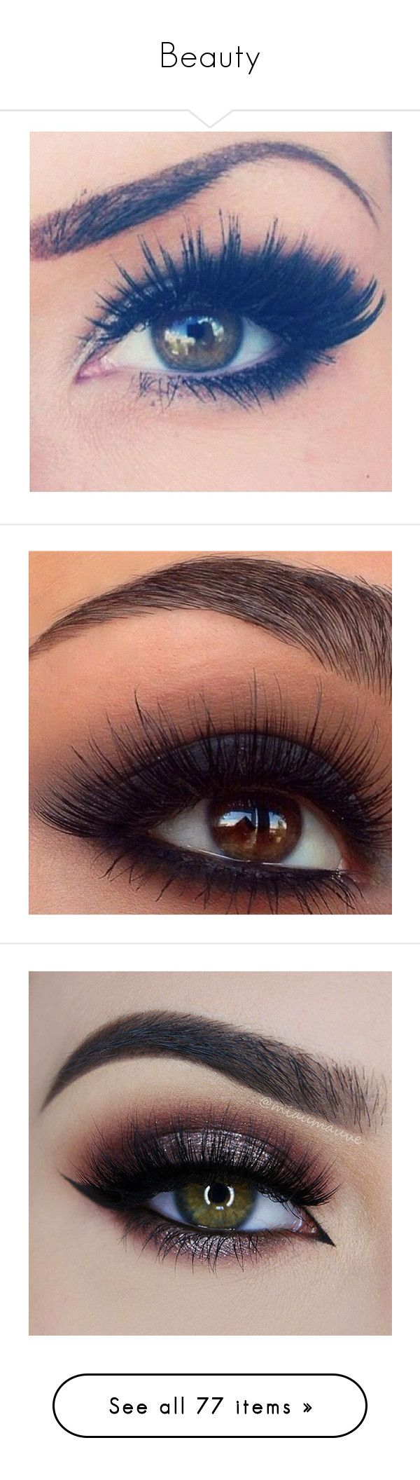 """""""Beauty"""" by nicole-briffa ❤ liked on Polyvore featuring beauty products, makeup, eye makeup, eyes, beauty, eye make up, eyeshadow, maquiagem, lip and eyeliner"""