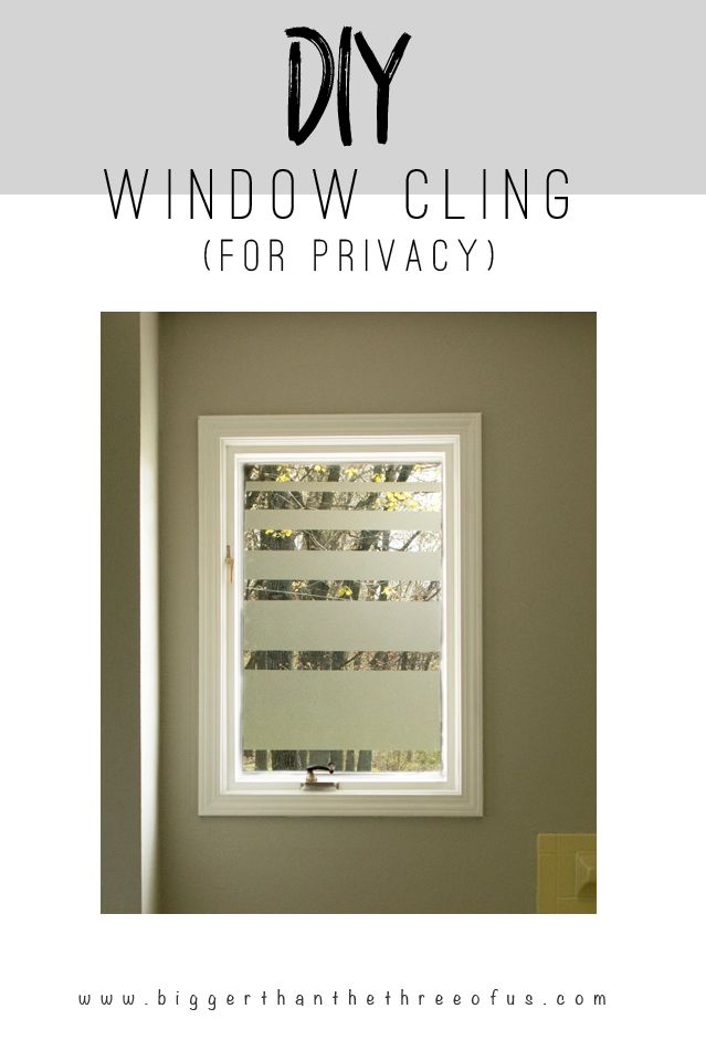 Image Gallery Website Add Privacy to Bathroom Windows without getting rid of your natural light with
