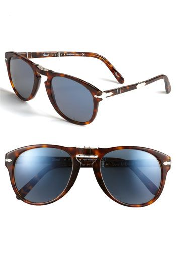 Free shipping and returns on Persol 'Steve McQueen™' Folding Sunglasses at Nordstrom.com. Signature arrow inlays style the temples of handmade sunglasses modeled after the ones worn by Steve McQueen. Designed with folding mechanisms at the bridge and the back of each arm.