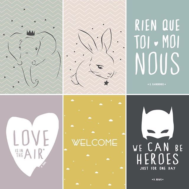 Les cartes dispo en ligne @quandlespoulesaurontdesdents  existent également en affiches ( différents coloris )