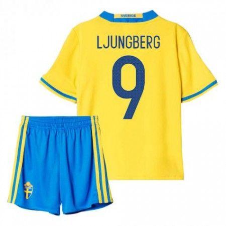 Sverige Trøje Børn 2016 #Ljungberg 9 Hjemmebanesæt Kort ærmer.199,62KR.shirtshopservice@gmail.com