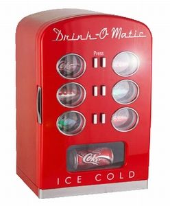 Drink-O-Matic Soft Drink Machine Red