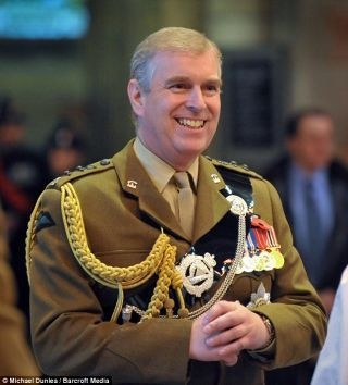 Prince Andrew-first smile I've seen from him in a LONG time!! WOW
