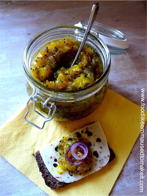 Mango Chutney (Sugar Mangoes) is a composition of ripe mangoes, sugar, spices and vinegar cooked on low heat to form a thick sauce like text...