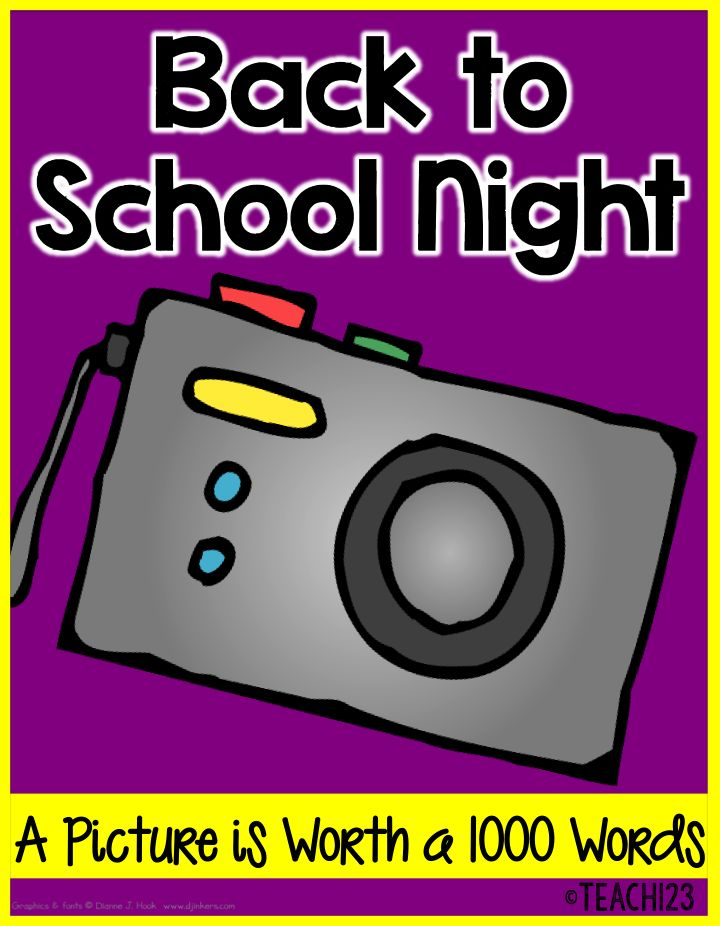 Back to School Night Photo Slide Show for the Parents! #Teach123