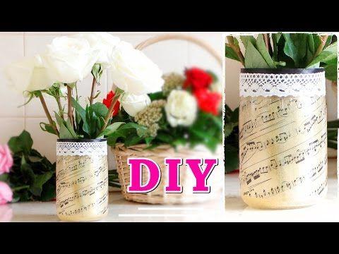 Как сделать ВАЗУ с ПРИНТОМ из стеклянной банки / VASE OF JAR #DIY NataliDoma - YouTube