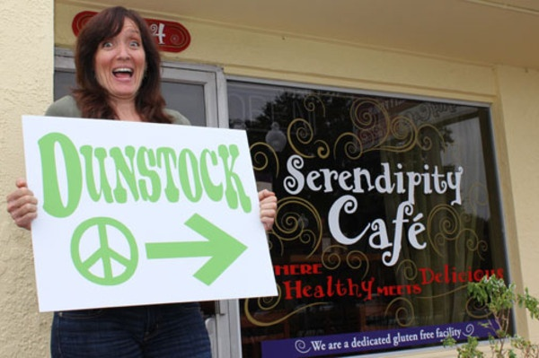 Serendipity Cafe in Dunedin, FL.  A great organic, gluten, and soy free restaurant we visited.