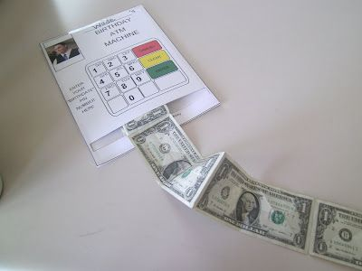 Perfect for the teenagers in your life - a DIY ATM birthday card with cold hard cash!