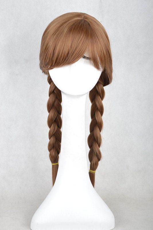 2013 New Disney Movies Frozen Snow Queen Anna Brown Light Pink Mixed Weave Ponytail Cosplay Wig 338 on Etsy, £20.79