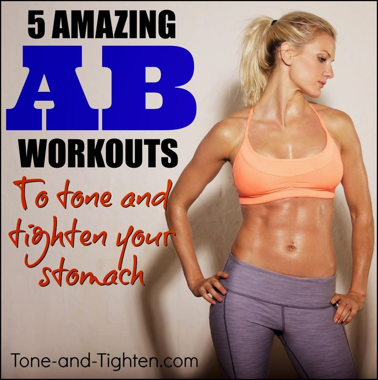 5 days of AMAZING ab workouts to tone and tighten your stomach! #workout #fitness from Tone-and-Tighten.com