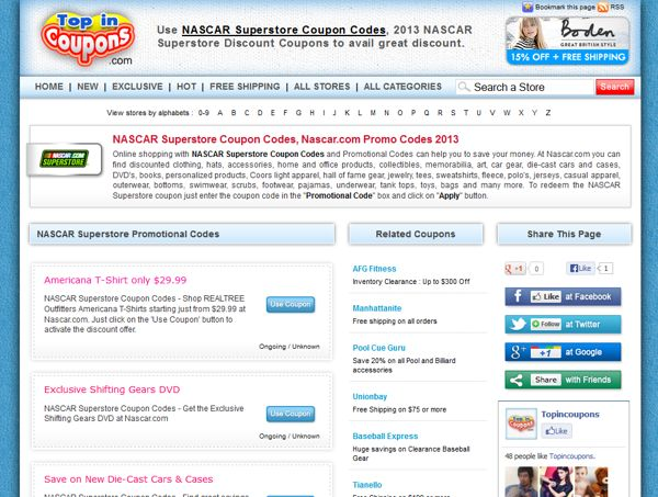 NASCAR Superstore Coupon Code by NASCAR Superstore Coupon Code, via Behance
