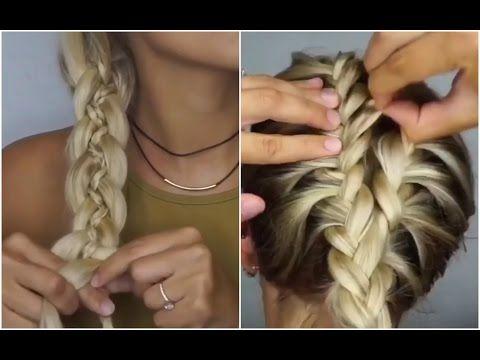 30 Лучших Причесок для средних волос! 💙 ИНСТРУКЦИИ! 💡😍 - YouTube