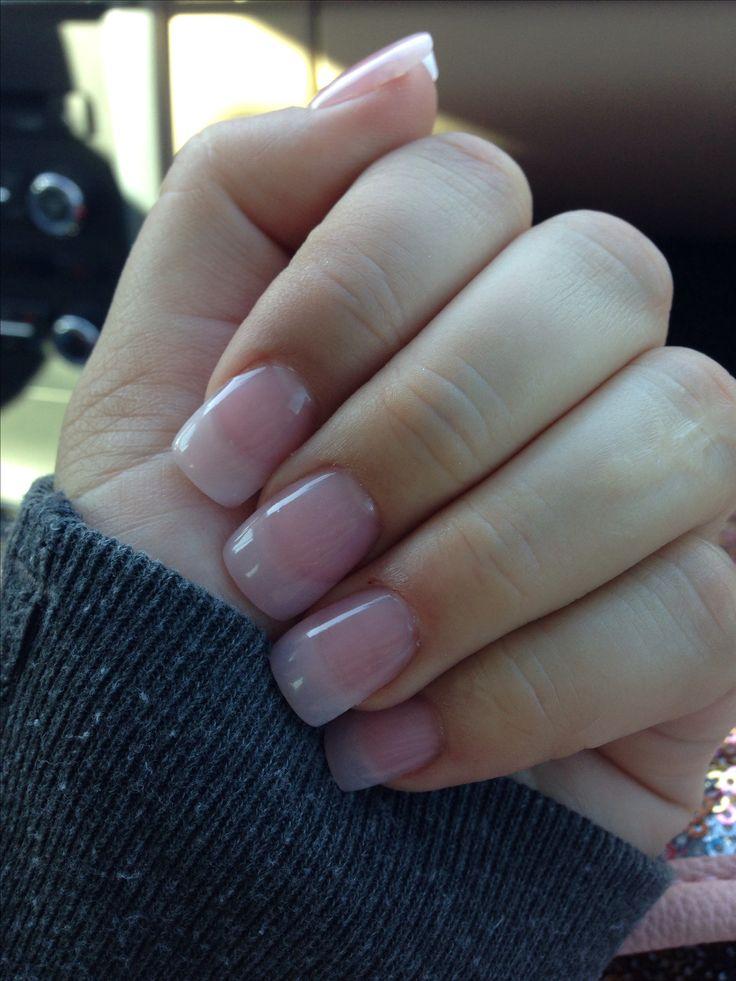 natural acrylic nails pink