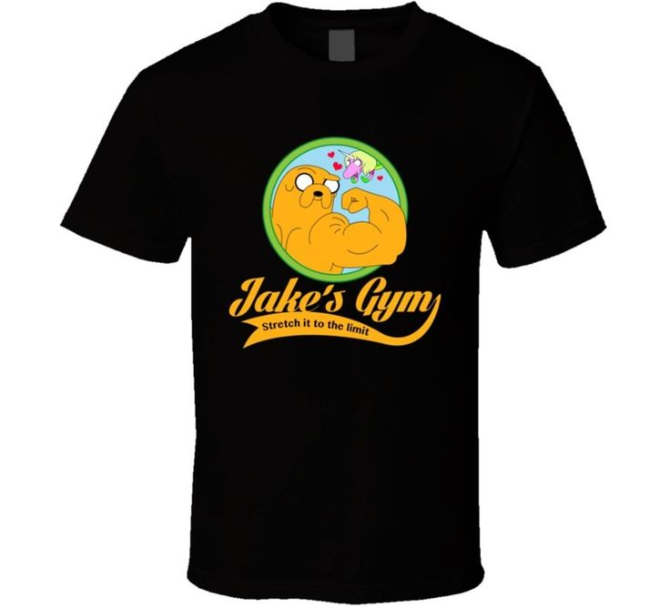 Jake's gym t-shirt adventure time tee jake and finn #AlstyleApparel #BasicTee
