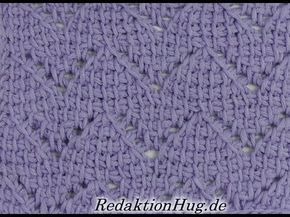 Tunisian Crochet - zag design (IN GERMAN - If you are familiar with Tunisian Crochet you can watch this video to learn this stitch... The video is very good... Deb)