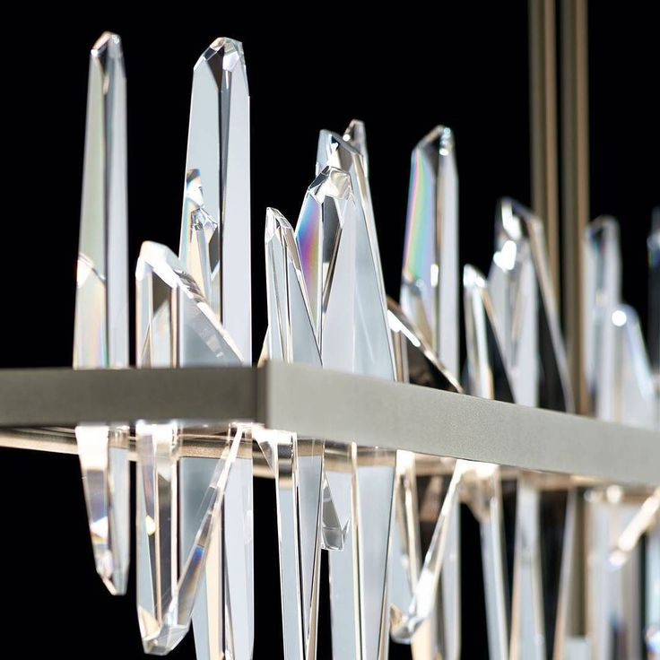 A close up of our new luxury 'Solitude' crystal Pendant by Hubbardton Forge #luxury #design #lighting #lightingdesign #bespoke #style #designer #interiors #architecture #interiordesign #designerlighting