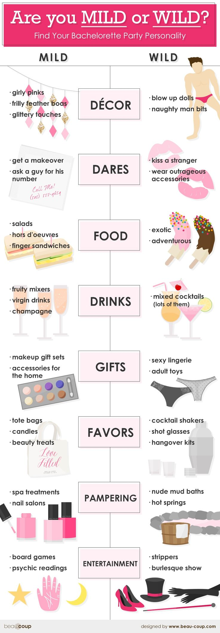 Mild or Wild? Bachelorette Party Ideas To Perfectly Suit Your Personality -Beau-coup Blog