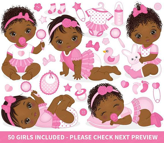 Baby Girl Clipart Vector Baby Clipart Afro Baby Clipart Etsy Baby Girl Clipart Baby Clip Art Baby Shower Clipart