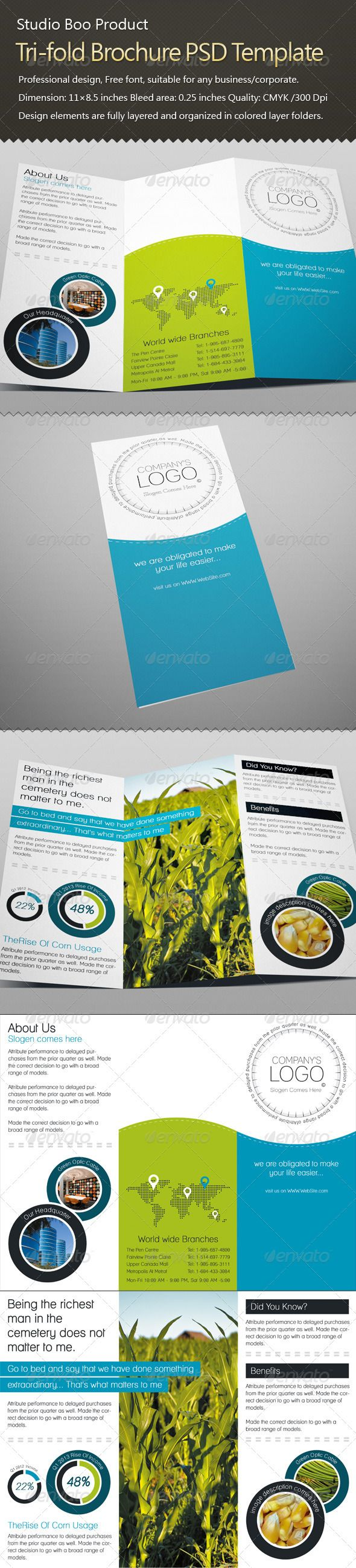best images about print templates fonts flyer tri fold brochure psd template