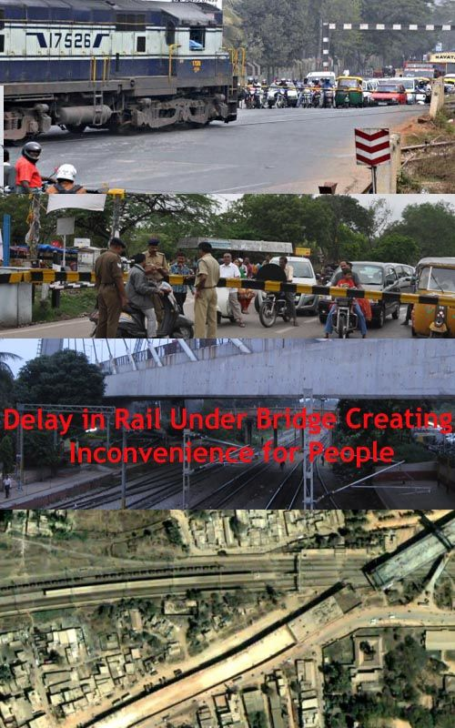 Now railway authorities and #BBMP authorities are blaming each other for making this delay in the rail #underbridgeproject.