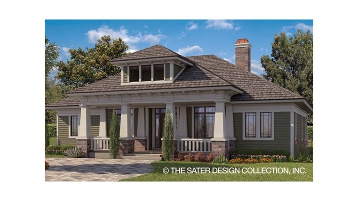 Love this hip roof craftsman porch.